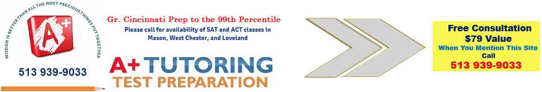 A+ Tutoring Test Preparation Cincinnati, Mason, West Chester, Loveland